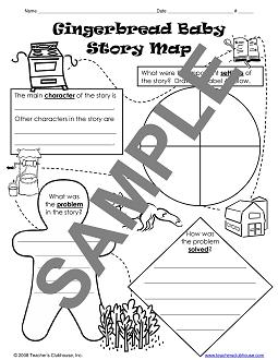 Gingerbread writing paper with lines new calendar for Gingerbread man story map template